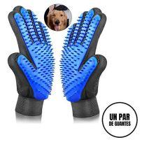Sonolife - Par de Guantes para Cepillado Perros Gatos Masaje y Cepillos de Mascota de Fácil Limpieza con Textura en Color Juego de 2 Derecho y Izquierdo.